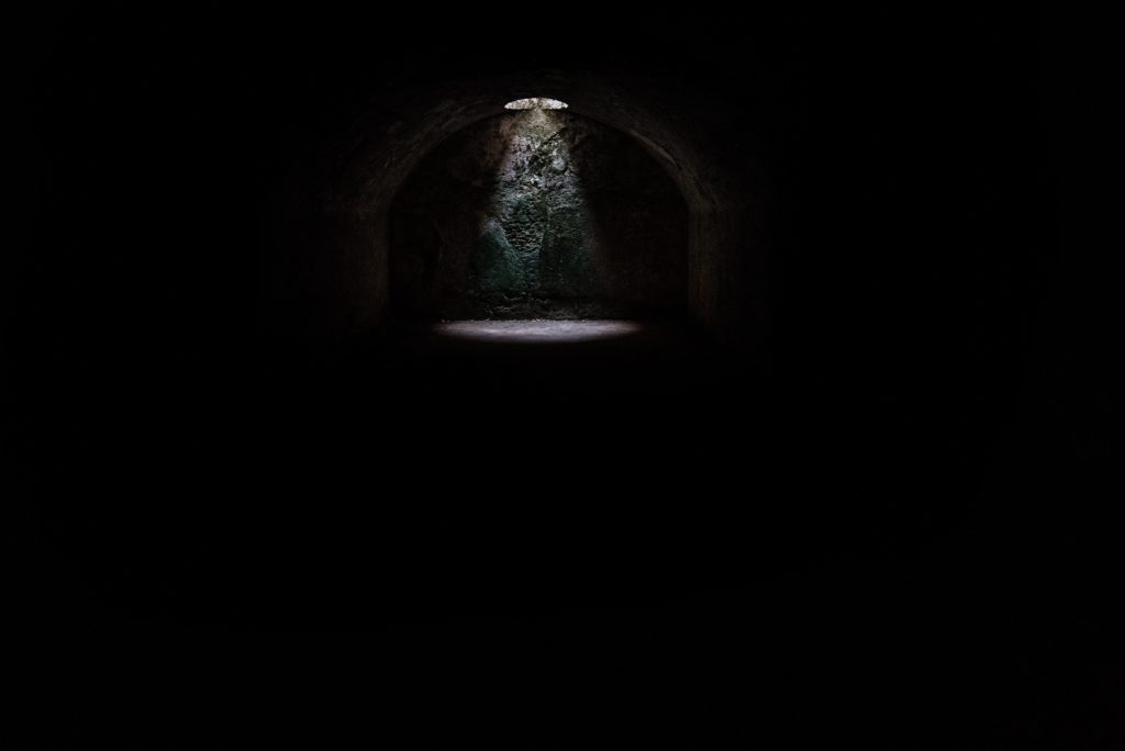 Sometimes we have to go into darkness to see the light.