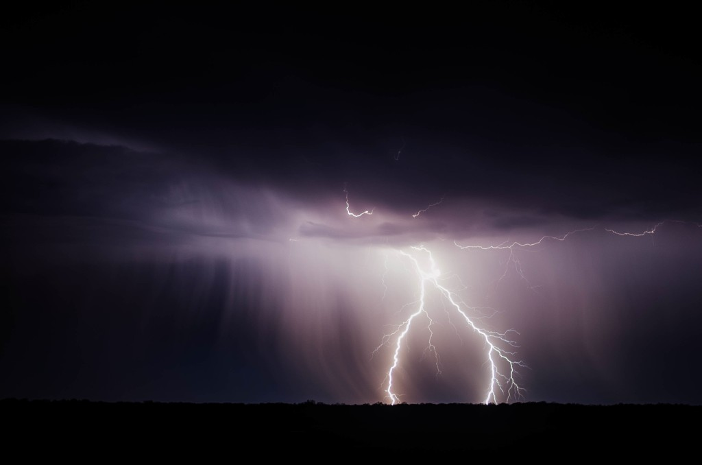 There's a place for everything in this world -- even angry lightning storms.