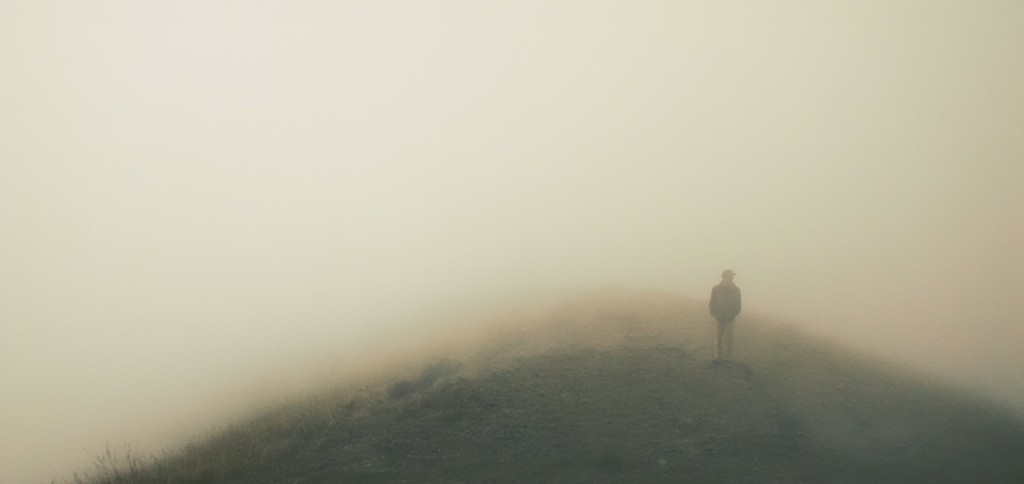 Intuition and delusion can both be murky, kind of like walking through fog.
