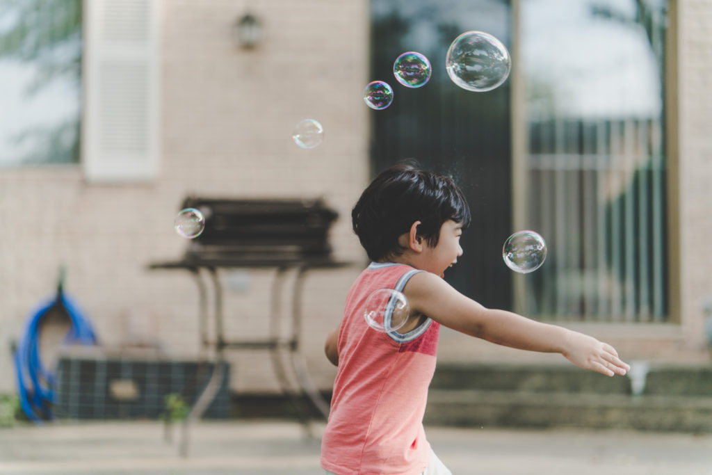 Even bubbles share space.